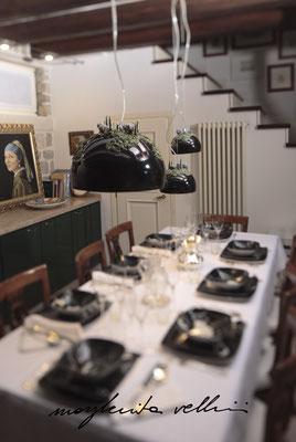 Sospensioni COLLINE smalto nero Margherita Vellini Ceramica Italiana fatta a mano Home Lighting Design