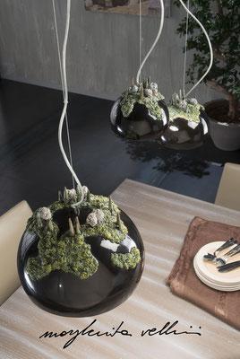 Sospensioni COLLINE Smalto Nero lucido - Margherita Vellini - Lampade in ceramica - Home Lighting Design