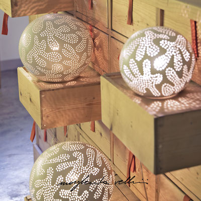 Sphere table/floor lamps GINGER matte white glaze. Margherita Vellini - Ceramic Lamps -  Home Lighting Design - Made in Italy