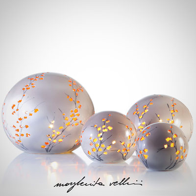 Sphere table lamps RAMAGE DIPINTO Margherita Vellini - Ceramic Lamps -  Home Lighting Design - Made in Italy