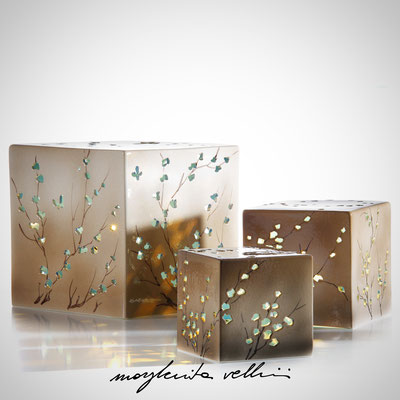 Cube table lamps RAMAGE DIPINTO Margherita Vellini - Ceramic Lamps -  Home Lighting Design - Made in Italy