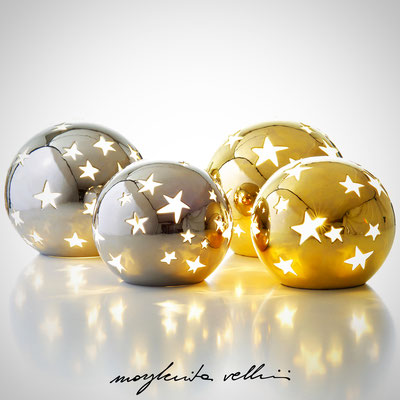 Sfere STELLATO metallo prezioso Platino e Oro 15% Lampada da tavolo e da terra   - Margherita Vellini  - Lampade in ceramica  - Home Lighting Design