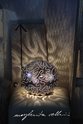 Sphere lamps ISOBARE matte precious metal  red gold 15% Margherita Vellini Italian handmade ceramics. Home Lighting Design