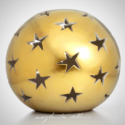 Sphere table/floor lamps STELLE precious metal matte Gold 15% Margherita Vellini - Ceramic Lamps -  Home Lighting Design - Made in Italy