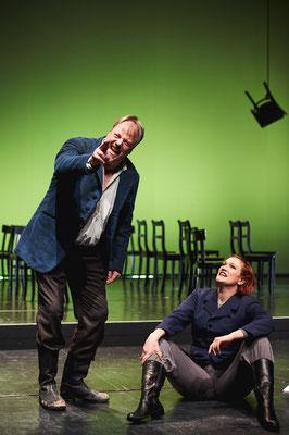 """Liederabend """"Weisen von Liebe und Tod"""" (mit Renatus Meszar, Bad. Staatstheater Karlsruhe, Februar 2019, @Arno Kohlem)"""