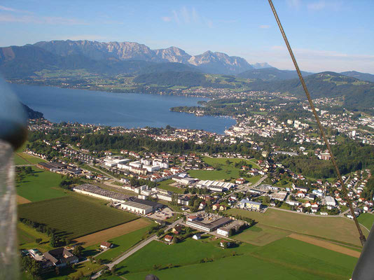 Blick auf Gmunden, das Luzern des Salzkammergutes