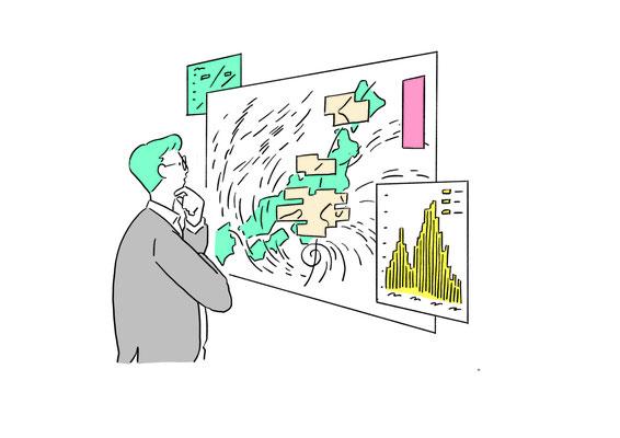 横国刻々 中面イラスト | デザイン:マッシュルームデザイン | 横浜国立大学