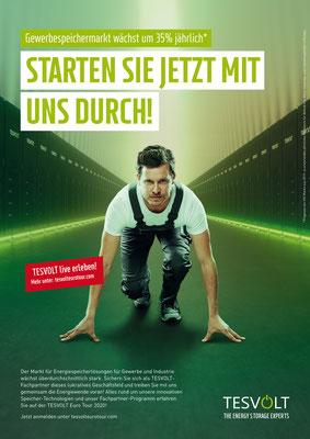 Kunde: Tesvolt / Agentur: RosenbauerSolbach / Fotograf: Martin Bühler / Fashion-Styling & Props: D.&A. Plattner