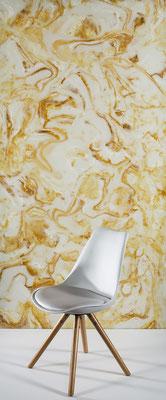 Natural Onyx yellow/brown - Ansicht, hinterleuchtet