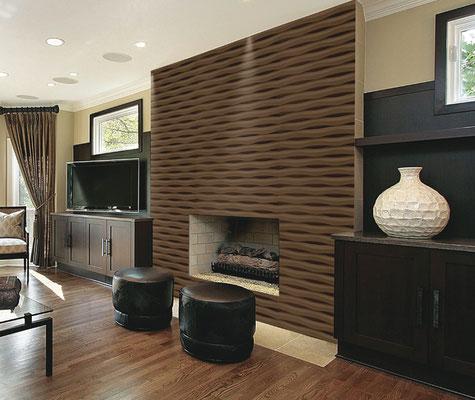 3-d Wandgestaltung zuhause, mit Holz Laminat , lackiert , besandet und mehr.