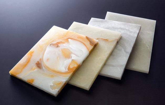 Alabaster Stone - Musteransicht der Stein Oberflächen, erhältlich bei concept & partner