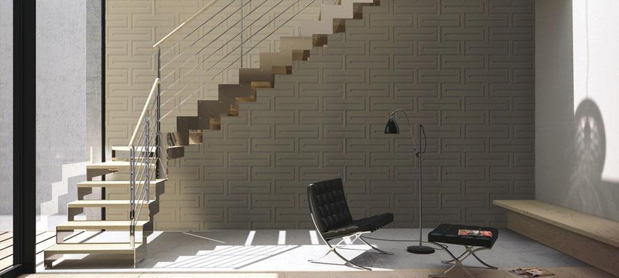 Unsere hochwertigen 3D-Reliefplatten sind in einer Vielzahl an unterschiedlichen Dekoren und Oberflächen erhältlich.