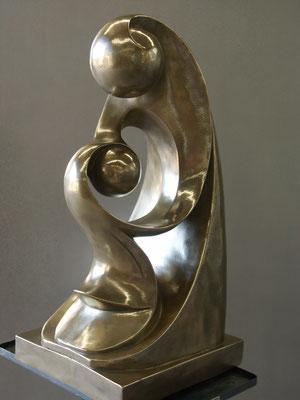 Kunst Veredelung mit Metallhaut.