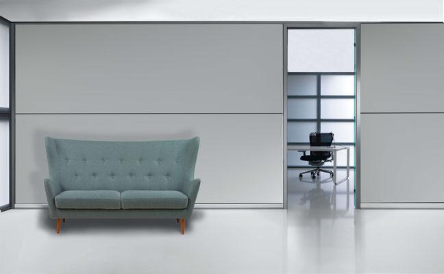 Filz Oberfläche white für das Office Design.