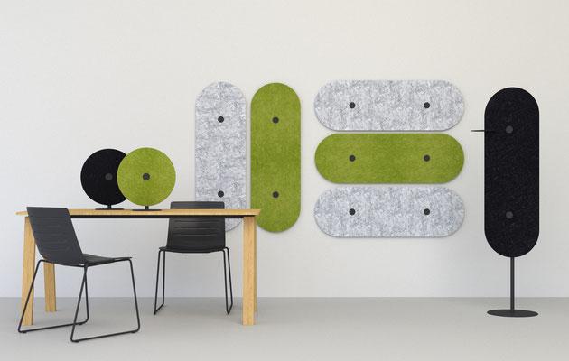 Lärmschutz im Büro, akustische Lösungen mit Design.
