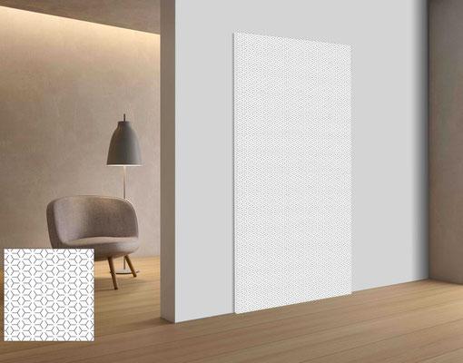 Individuelle Grafik Design Oberflächen zur akustischen Bürogestaltung.