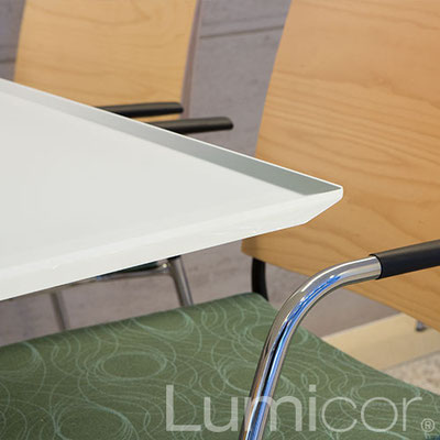 Lumicor Luminous glacier white Tabletop