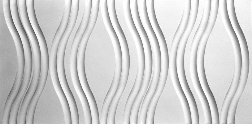 Durch die gefräste dreidimensionale Oberfläche entstehen mit entsprechender Beleuchtung eindrucksvolle Räume.