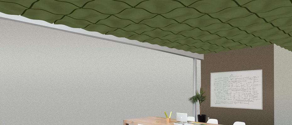 Akustik Absober für die Decke und Wand  - einfach selbst zu montieren.