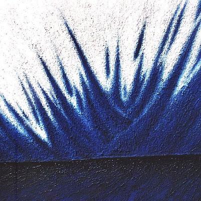 Éclat bleu (Blauer Glanz), 100 x x100 cm