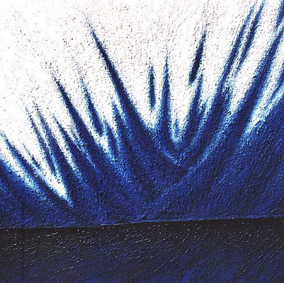 Éclat bleu / Blauer Glanz   100 x x100 cm // Blue brightness 3,28 x 3,28 ft