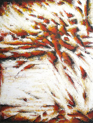 Mouvement orange / Orange Bewegung  116 x 89 cm // Orange movement 3,80 x 2,91 ft