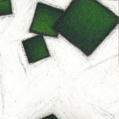Carrés verts / Grüne Quadrate  150 x 150 cm // Green squares  4,92 x 4,92 ft