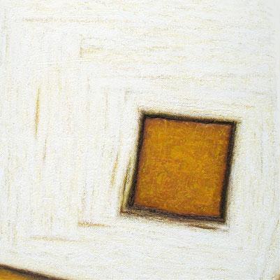 Le carré qui vient (Das Quadrat, das kommt),  150 x 150 cm
