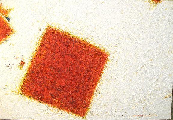 Carré orange / Oranges Quadrat  81 x 116 cm // Orange square