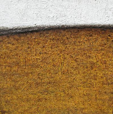 Matière, lieu / Stoff, Ort  100 x 100 cm //  Material, place 3,2 x 3,2 ft