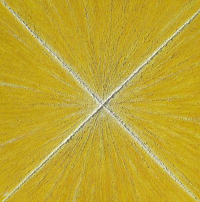 Croix, lumière (Kreuz, Licht), 120 x 120 cm