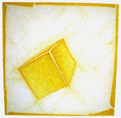 Cube jaune / Gelber Kubus 150 x 150 cm // Yellow cube  4,92 x 4,92 ft