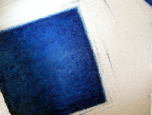 Carré bleu (Blaues Quadrat), 115 x 147 cm