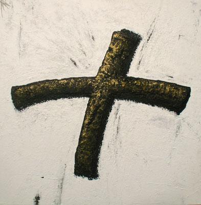 Croix / Kreuz  150 x 150 cm // Cross  4,92 x  4,92 ft