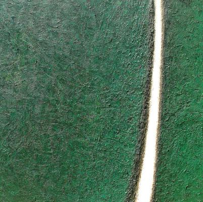 Interstice, vert (Zwischenraum, grün), 100 x 100 cm