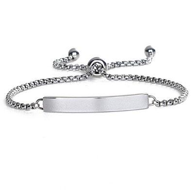 Namenskette Armband silber mit Lasergravur deines Wunschtextes