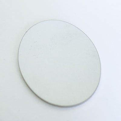 Bolo Tie Chromstahl: Oval - Höhe 5,5cm, Breite 4cm