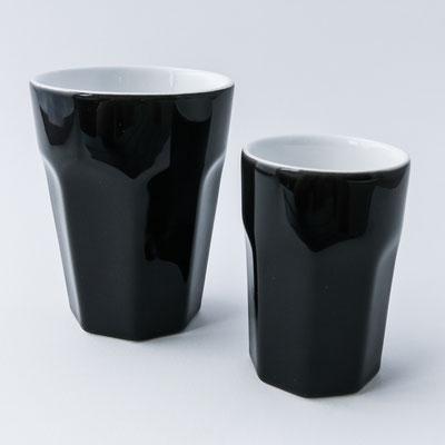 Caffè ti amo: grosser und kleiner schwarzer Becher, innen weiss - dishwasher proof