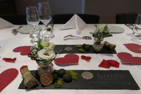 Originelle Tischdekoration Hochzeit