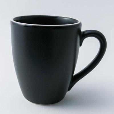 Tasse für Tee, Milchkaffee oder Cappuccino, matt schwarz - dishwasher proof - 10,5cm hoch