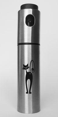 Wasser-, Essig- und Ölspritzer mit Lasergravur