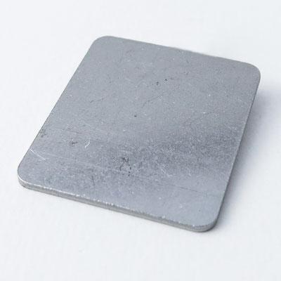 Bolo Tie: silber, rechteckig - 3,9x3,2cm