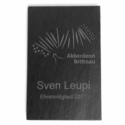 Auszeichnung Ehrenmitglied Schieferplatte mit Aufhängung