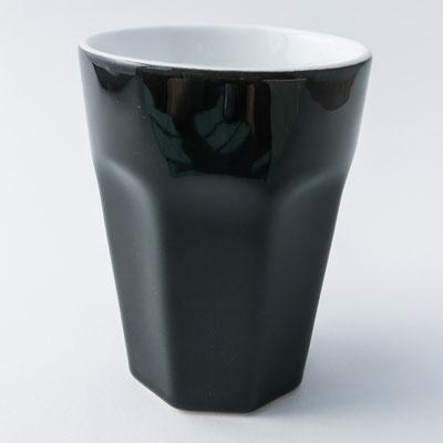 Caffè ti amo: Becher für Kaffee oder Cappuccino, schwarz - dishwasher proof - 10cm hoch