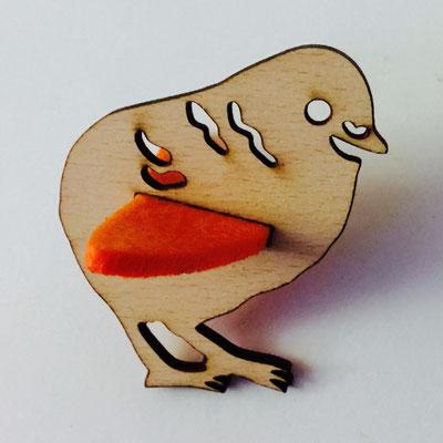 Mobile-Figur aus Buchenholz mit Filz in deiner Wunschfarbe