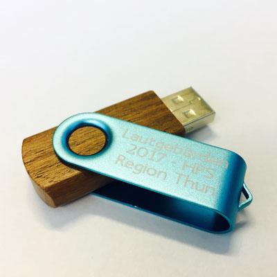 Lasergravur auf USB Stick