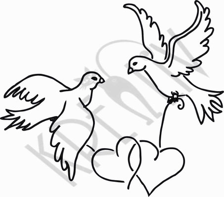 Tauben mt Herzen