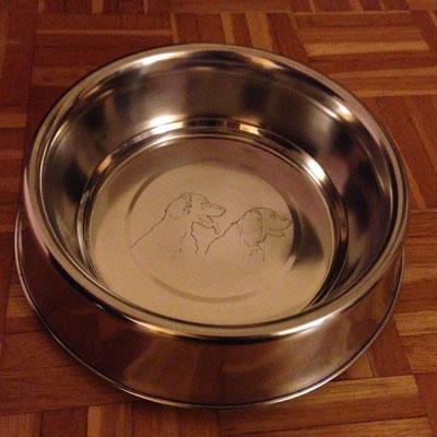 Hundenapf mit Lasergravur