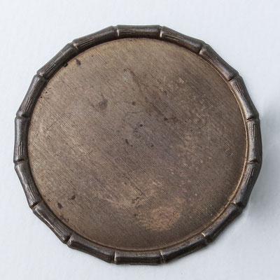 Bolo Tie: bronce, rund - Ø 4cm