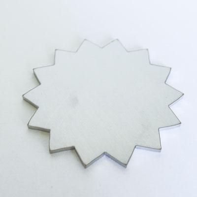 Bolo Tie Chromstahl: Stern - Ø 4,5cm